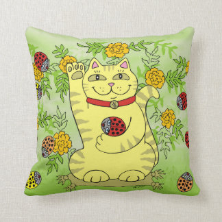 The Marigolds Are Lucky Today! Pillow