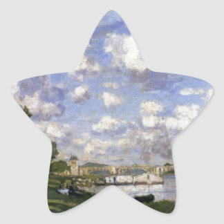 The Marina at Argenteuil by Claude Monet Star Sticker
