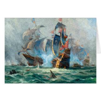 The marine battle scene card