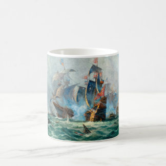 The marine battle scene coffee mug