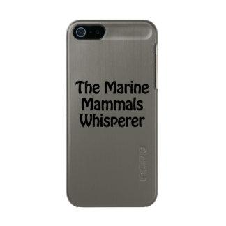 the marine mammals whisperer metallic phone case for iPhone SE/5/5s