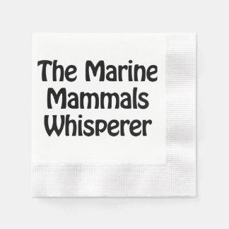 the marine mammals whisperer coined cocktail napkin