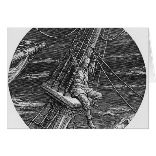 The Mariner aloft in the poop of the ship Card