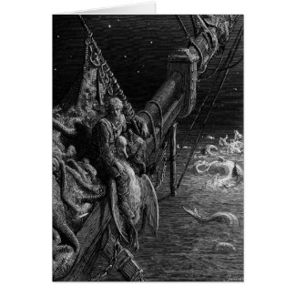 The Mariner gazes on the serpents in the ocean Card