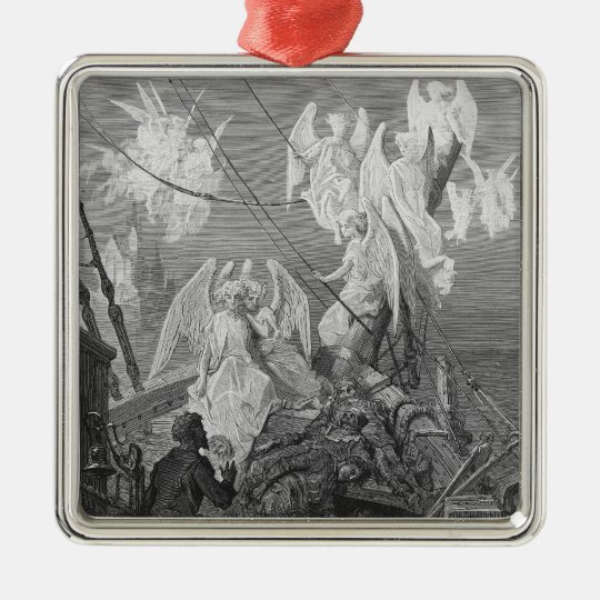 The mariner sees the band of angelic spirits metal ornament