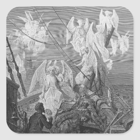 The mariner sees the band of angelic spirits square sticker