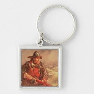 The Mariner Silver-Colored Square Keychain