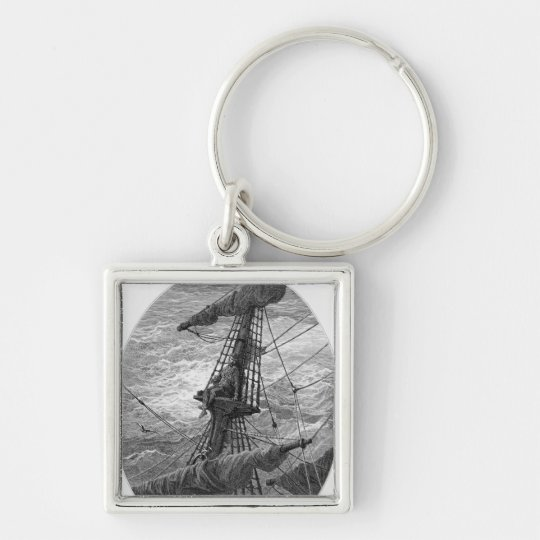 The Mariner up the mast during a storm Keychain