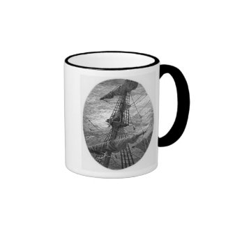 The Mariner up the mast during a storm Coffee Mug