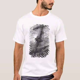 The Mariner up the mast during a storm T-Shirt