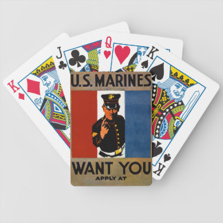 The Marines Want You Bicycle Playing Cards