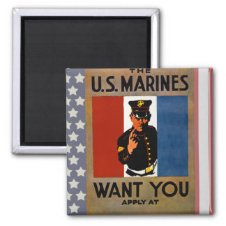 The Marines Want You Refrigerator Magnet