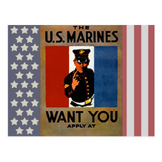 The Marines Want You Postcards