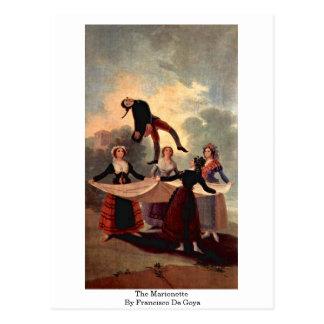 The Marionette By Francisco De Goya Postcard