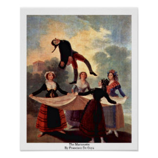 The Marionette By Francisco De Goya Posters