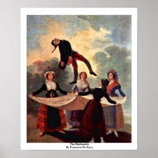 The Marionette By Francisco De Goya Poster