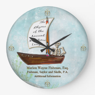 The Maritime Lawyer (Personalized) Large Clock