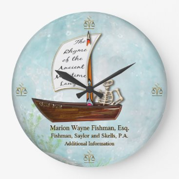 Lawyer Themed The Maritime Lawyer (Personalized) Large Clock