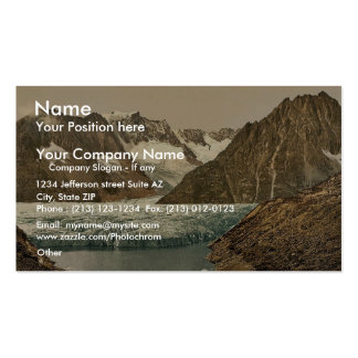 The Marjelensee 7 700 feet above the sea Valais Business Card Templates