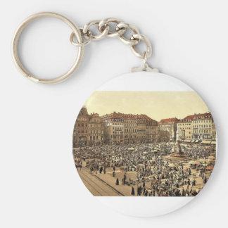 The Market, Altstadt, Dresden, Saxony, Germany mag Key Chain