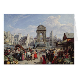 The Market and Fountain of the Innocents Card