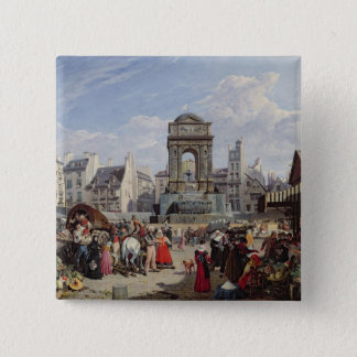 The Market and Fountain of the Innocents Pinback Button