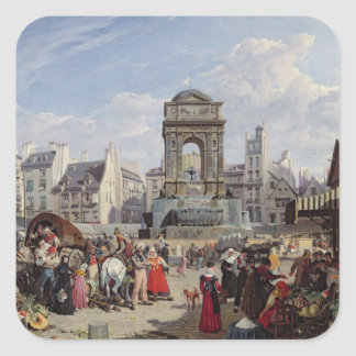 The Market and Fountain of the Innocents Square Sticker