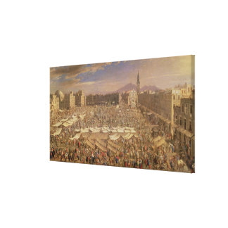 The Market at Naples Canvas Print
