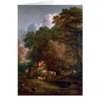 The Market Cart, 1786 Card