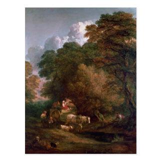 The Market Cart, 1786 Postcard