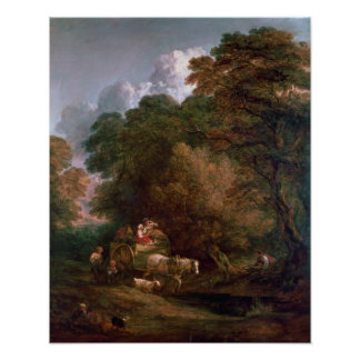 The Market Cart, 1786 Poster