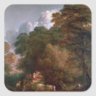 The Market Cart, 1786 Square Sticker