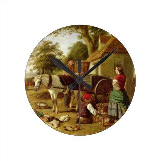 The Market Cart, 1864 (oil on canvas) Wall Clocks