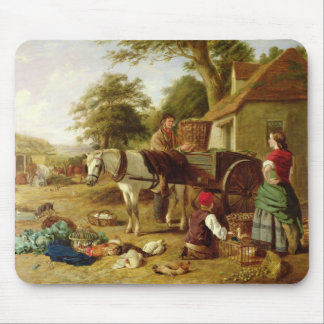 The Market Cart, 1864 (oil on canvas) Mouse Pad