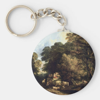 The Market Carts By Thomas Gainsborough Keychains