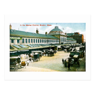 The Market District, Boston, Massachusetts Post Cards