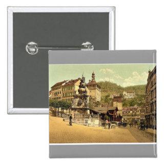 The market fountain, Carlsbad, Bohemia, Austro-Hun Buttons