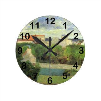 The Market Gardens of Vaugirard - 1879 Round Wall Clock