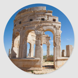 The Market, Leptis Magna, Al Khums District Classic Round Sticker