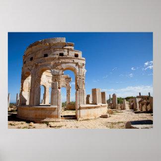 The Market, Leptis Magna, Al Khums District Poster