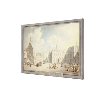 The Market Place at Juliers in Westphalia, 1791 (p Canvas Print