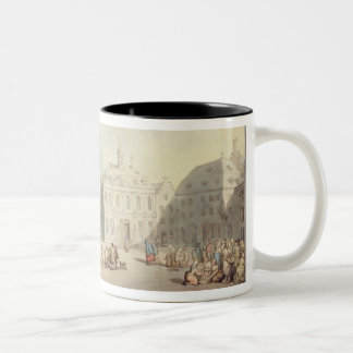 The Market Place at Juliers in Westphalia, 1791 (p Two-Tone Coffee Mug