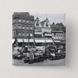 The Market Place at Trier, c.1910 Button