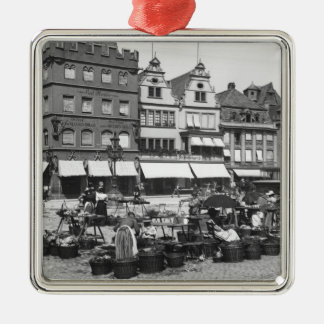 The Market Place at Trier, c.1910 Metal Ornament