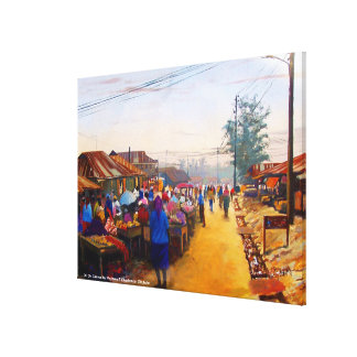 THE MARKET PLACE BY MOJISOLA A GBADAMOSI OKUBULE   CANVAS PRINT