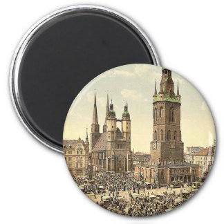 The market place, Halle, German Saxony, Germany ma Magnet
