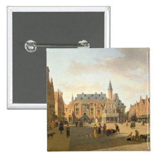 The Market Place with the Raadhuis Pinback Button