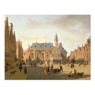 The Market Place with the Raadhuis Postcard