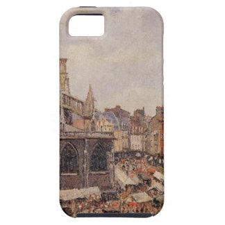 The Market Surrounding the Church of Saint-Jacques iPhone SE/5/5s Case