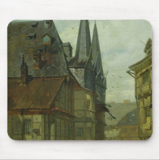 The Marketplace in Wernigerode, 1861 Mouse Pad